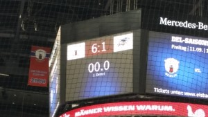 Endstand zwischen den Eisbären Berlin und Les Rapaces de Gap im zweiten CHL-Gruppenspiel für die Hauptstädter. (Foto: eisbaerlin.de/walker)