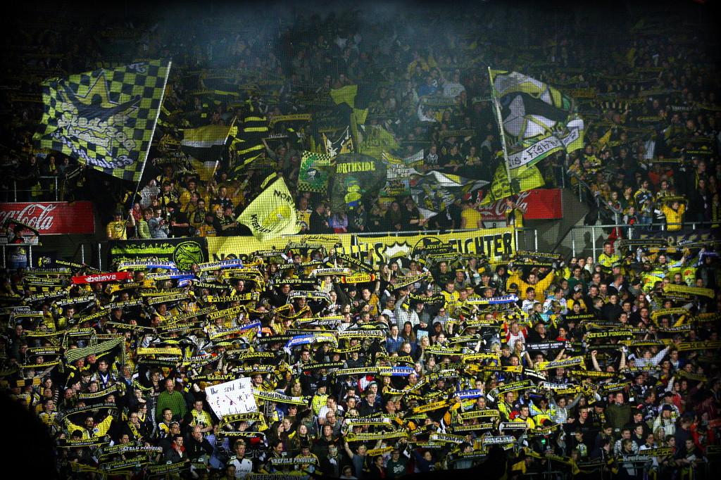 Der Krefelder Fanblock. (Foto: black corner 2007)