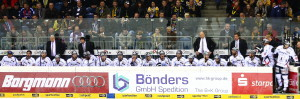 Eisbären-Coach Don Jackson (2. v.r.) wurde zum fünften Mal mit den Eisbären Deutscher Meister. (Foto: black corner 2007)